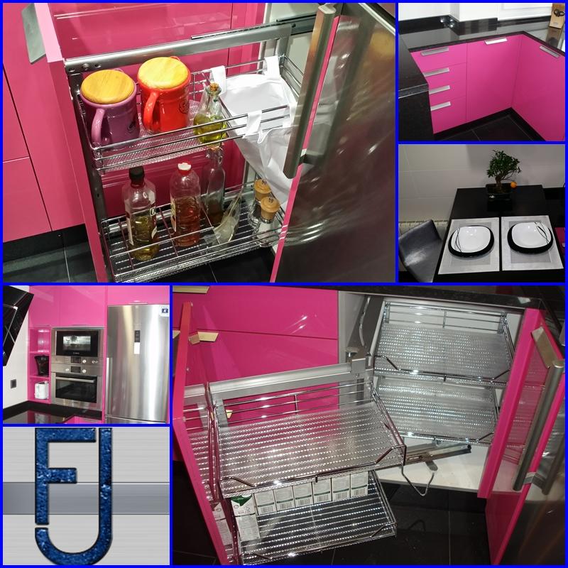 Cocinas feju cocinas y ba os - Cocinas rosa fucsia ...